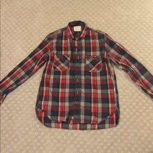 Bensimon Size Small Red and Navy Flannel for 30